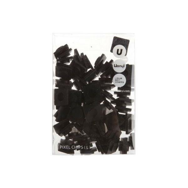 Пиксельные фишки Большие WY-P001 черныйКомплект силиконовых пикселей для самостоятельного создания рисунков на сумках, рюкзаках Upixel<br>