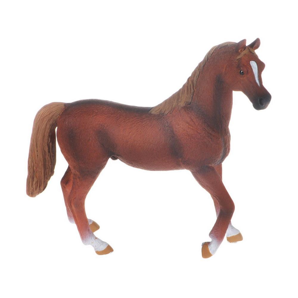 Арабский жеребец тёмно-рыжей масти (XL)Чистокровная арабская лошадь - это необыкновенная красота и предел мечтаний любого конника. Арабская легенда гласит, что Аллах создал ее из ветра, благодаря тем же легендам, она окружена ореолом таинственности.Лошади арабские - скакуны отменные, они принадлежат к числу древнейших благородных пород. На сегодняшний день эти красавцы являются лидерами среди лошадей восточного типа. Многие считают эту породу самой красивой. Выведена она была бедуинами на рубеже четвертого-пятого веков на просторах Аравийского полуострова, там, где царят жара и засуха. Выносливые животные ценились своими хозяевами больше, чем жены и дети. Во всем мире известна истина: для бедуина на первом месте стоит отец, на втором - гость, а на третьем - конь. Все остальное как бы отодвигается на второй план. С женой и детьми бедуины, конечно, погорячились, но порода лошадей арабская чистокровная настолько прекрасна, что любой мужчина потеряет голову от того, что владеет этим чудом природы.Фигурка Mojo Арабский жеребец познакомит детей с окружающим миром, разовьет творческие способности и расширит возможности ролевых игр. Фигурка выполнена из высококачественных материалов с максимальной точностью, раскрашена вручную.<br>