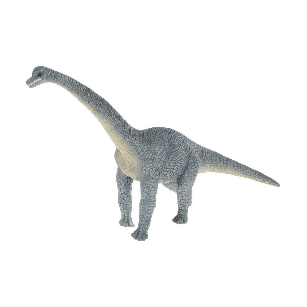 Брахиозавр (XL)Брахиозавр - род растительноядных динозавров-зауроподов из семейства брахиозаврид, живших в конце юрского периода (161,2-145,5 млн лет назад) на территории Северной Америки, Африки и Европы. До открытия сейсмозавра считался самым высоким динозавром. Маленькая голова на конце восьмиметровой шеи находилась на высоте 13 метров. Ноздри брахиозавра располагались на своеобразном полукруглом костном гребне выше глаз и были снабжены клапанами.Фигурки Mojo познакомят детей с окружающим миром, развивают творческие способности и расширяют возможности ролевых игр. Все фигурки выполнены из высококачественных материалов с максимальной точностью и раскрашены вручную.<br>