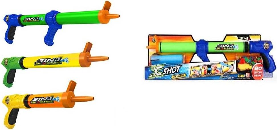 Ружье водное Zuru, 80 шариковРужье водное включает в набор 80 шариков – удивительное многофункциональное ружье. Игрушка водное ружье может стрелять водой, водяными снарядами, ракетами, шариками с водой. Игрушка водное ружье может быть использовано в воде и на суше.<br>