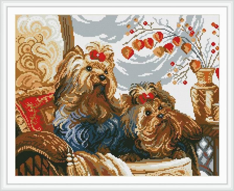 Мозаичная картина Йорки (19 цветов)Создание мозаики – это захватывающий и увлекательный творческий процесс, занятие для души и отдых от повседневных забот. С помощью этого набора вы можете создать настоящий рукотворный шедевр. Камушек за камушком и основа картины будет закрываться блестящим панцирем. Готовая картина станет прекрасным украшением вашего дома.Комплектация:- тканевый холст с клеевым слоем и с нанесенной схемой рисунка;- металлический пинцет;- пластиковый контейнер для элементов мозаики;- специальный карандаш;- клей-липучка для карандаша;- комплект разноцветных мозаичных элементов диаметром 2,5 мм.<br>