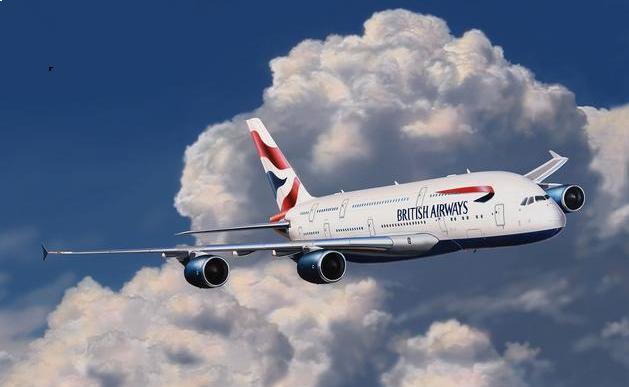 Игровой набор Revell Пассажирский Самолет Airbus A380 British airways сборная модель аэробуса revell a 380 first flight