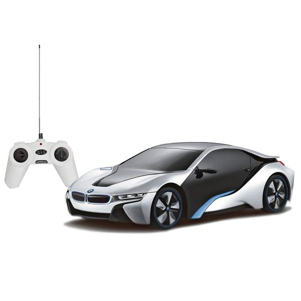 Машина р/у 1:24 BMW I8 , в ассортиментеBMW I8 – это концепт-кар, который способен заворожить своим необычным футуристическим дизайном. Заполучить миниатюрную копию этой умопомрачительной машины можно уже сейчас. Машина на радиоуправлении управляется с простого и понятного пульта с антенной. Доступны все направления движения: вправо-влево, вперед-назад, стоп. Машина имеет обтекаемый корпус из противоударного пластика, высокую детализацию. Создается по лицензии BMW.<br>