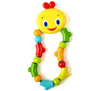 Развивающая игрушка-прорезыватель ГусеничкаКрути, верти, кусай!Структурная основаНежная поверхность для детских десенЛегко хватать и держать маленькими ручкамиДополнительные характеристики Размеры товара:  8 * 2  * 18 смРазмеры коробки: 12 * 2 * 22 смЧасть средств с продажи этой игрушки идет на устранение проблемы осведомленности о раке молочной железы<br>