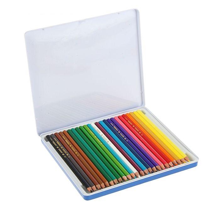 LYRA OSIRIS Цветные лакированные карандаши в металлической коробке, 24 цветаКарандаши 24цв LYRA OSIRIS 7.0/2.8 мм трехгран, лакированные, мет.коробка L2521253 — это настоящая находка для начинающего художника. Они имеют качественные стержни, не стираются и не выцветают со временем. А большая цветовая палитра позволит изобразить мир на бумаге в ярких тонах.<br>