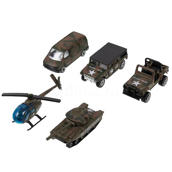 Игровой набор Военно-полицейская команда 5 шт.Игровые наборы машин Welly,Игровой набор Военно-полицейская команда 5 шт. Размер машин 8 см.<br>