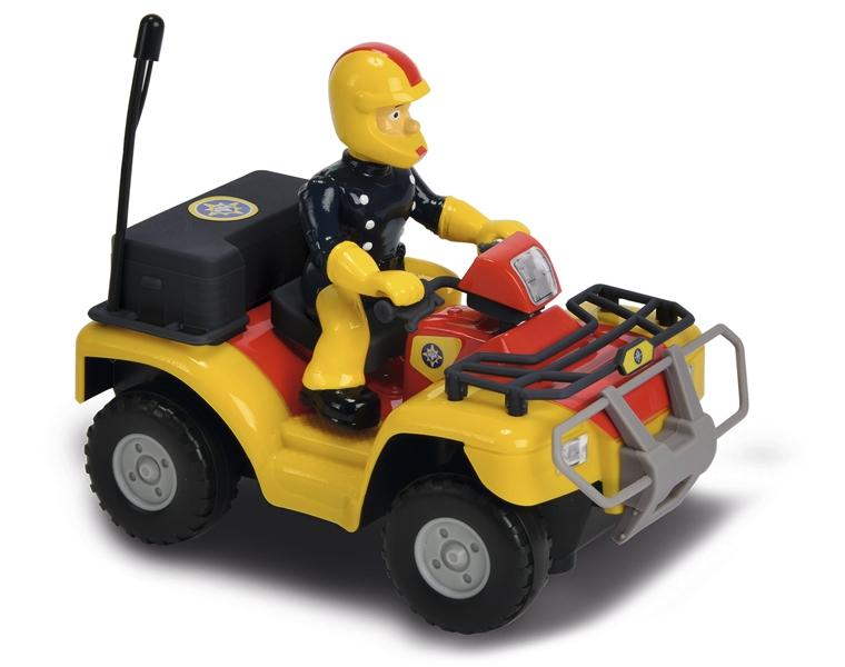 Квадроцикл р/у Пожарный Сэм - Меркурий, 1:24 (на батарейках, со световыми эффектами)Данный квадроцикл — одно из главных транспортных средств, которым пользуется Пожарный Сэм, являющийся героем одноименного английского мультсериала. «Меркурий» способен разгоняться до высокой скорости, а фигурка Сэма будет осуществлять «управление» этой техникой. Главной особенностью этого игрового набора является, разумеется, возможность управлять квадроциклом с помощью пульта управления, понятного и простого в освоении. Предусмотрен режим ускорения. Ребенок сможет без труда придумать множество собственных сюжетов, а также разыграет уже виденные ранее.Возраст: от 3 летДля мальчиковЦвет: черный, красный, желтый, серый.Масштаб: 1:24.Комплектация: квадроцикл, инструкция, пульт управления.Наличие батареек: не входят в комплект.Материалы: пластик.Длина квадроцикла: 16 см.Питание квадроцикла: 2 х АА 1.5V / LR6 (пальчиковые).Питание пульта: 3 х АAA / 1.5V LR03 (мизинчиковые).<br>