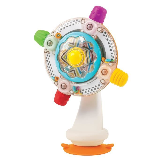 Игрушка на присоске Sensory ( со звуковыми эффектами)Игрушка на присоске Sensory от бренда Bkids предназначена для самых маленьких. Это очень увлекательная игрушка, она уникальна по своему замыслу и дизайну. Игрушка горизонтально крепится на любую ровную поверхность благодаря присоскам. Внешне она напоминает маленький вентилятор. Малышу предлагается крутить диск вентилятора, чтобы активировать звуковые эффекты. Игрушка поможет развить сенсорное и цветовое восприятия, моторику пальчиков и попросту развлечет малыша.<br>