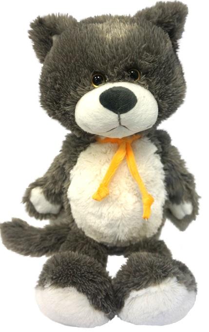 Мягкая игрушка Кот Серый Макси Тойз, 26 смКот Серый породы Maxitoys ищет себе новых друзей. Этот милаха с мягкой серой шерсткой очень воспитан, и, чтобы все это видели, носит на шее аккуратный галстук, сделанный из ярко-желтой ленточки. Серый - очень мягок, и это касается не только его тела, но также и характера. С эти зверем под боком очень приятно засыпать.<br>