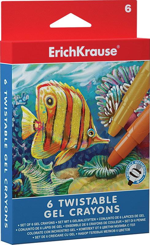 ErichKrause Гелевые мелки Twist 6 цветов