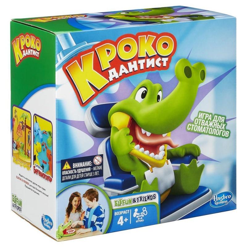 Крокодильчик ДантистПочувствуй себя настоящим дантистом с новой забавной игрой. Побеждает тот, кто останется в игре и не потревожит больной зубик Крокодильчика.<br>