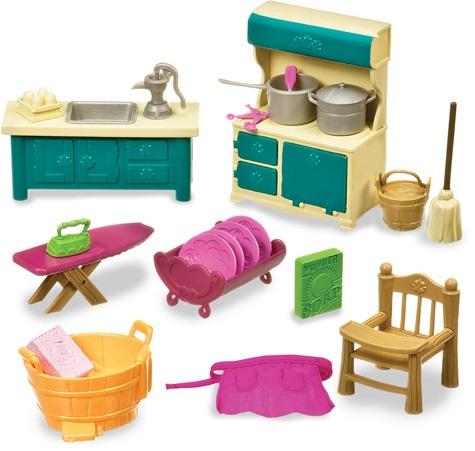 Набор для кухни и ванной Lil Woodzeez. Ватtат аксессуары для кухни и ванной комнаты 301