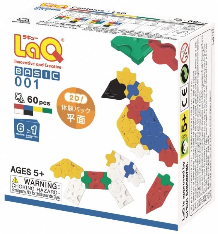 Конструктор LAQ BASIC 001 , 60 деталей игрушка laq basic 2400 colors
