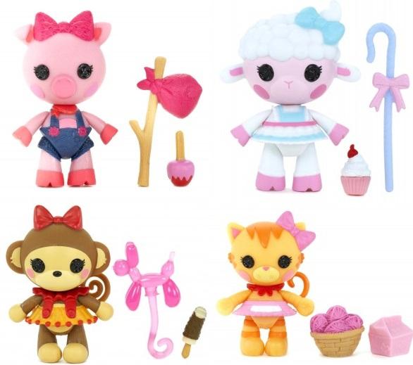 Кукла Lalaloopsy Mini - ПитомцыИгровой набор Lalaloopsy Mini «Питомцы» включает в себя небольшое пластиковое животное, а также 2 аксессуара для него. Эта зверушка является любимцем одной из знаменитых кукол Лалалупси. По этой причине использовать его можно не только в качестве обыкновенной игрушки, но и как предмет коллекции. Для своих малых размеров, фигурка имеет достаточно хорошую детализацию. То же касается и аксессуаров в наборе. При производстве комплекта была использована только высококачественная пластмасса, не представляющая угрозы для детского здоровья.<br>