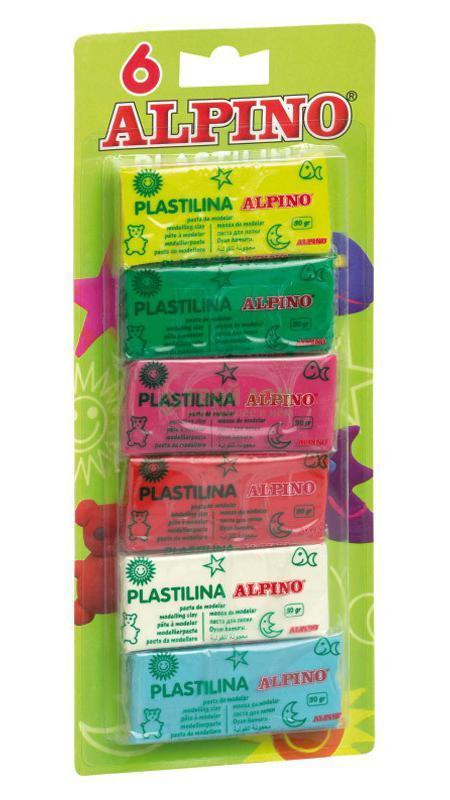 Набор пластилина, 6 x 30 гр = 180 гр, 6 цв. alpino 12 цветов alpino альпино