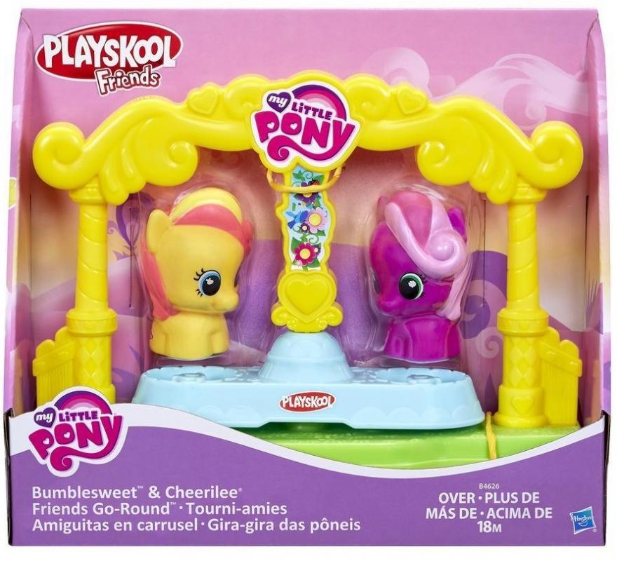 Карусель для пони-малышекИгровой набор Карусель из серии Май Литл Пони - это отличное предложение для тех, кто обожает тематику Маленьких Пони. Игрушка представляет собой карусель и две фигурки My Little Pony, которые на ней катаются. С таким набором можно устраивать различны<br>
