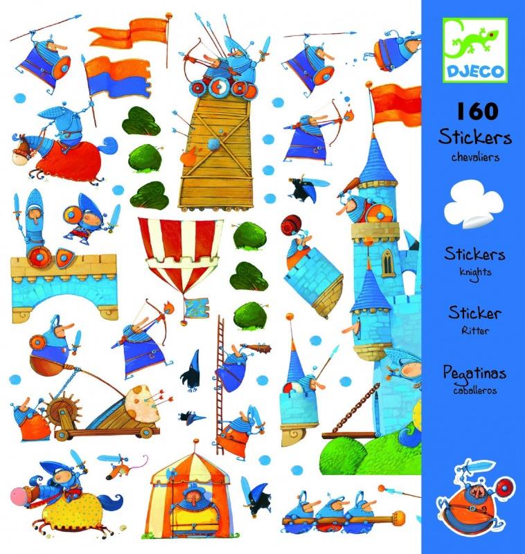 Наклейки ВсадникиИсполненные в карикатурной манере рисунки в наборе наклеек Рыцари, 160 штук (08831) воссоздают картины самых героических страниц истории средневековья. Турнирные поединки, боевые схватки, осады замков – эти и многие другие сюжеты позволят разбавить скуку современного быта яркими красками подвигов прошлого. Наклейки можно использовать по отдельности, а можно создать из них единую картину масштабной баталии. Таких рыцарей – с толстенькими животами и смешными несуразными носами – сложно представить себе на балу или торжественном приёме. Их стихия – война, и страсти здесь разгораются нешуточные!<br>