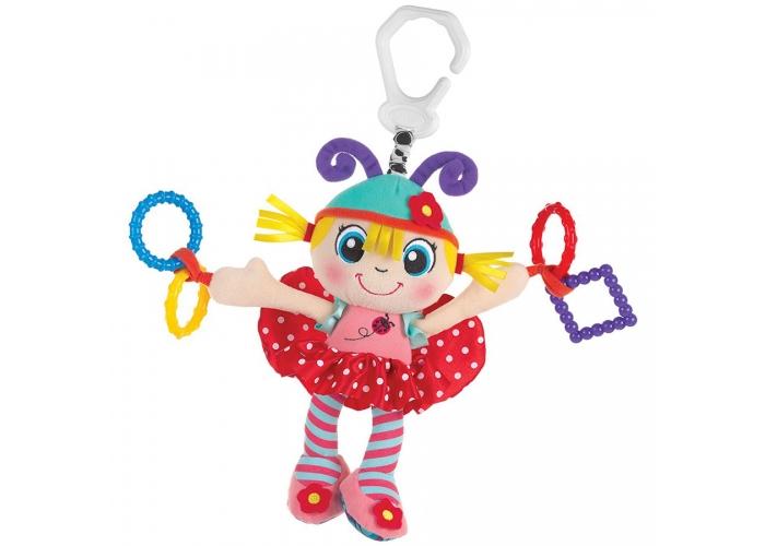 Playgro Игрушка-подвеска Девочка- божья коровка0183685 игрушки подвески playgro игрушка подвеска девочка божья коровка