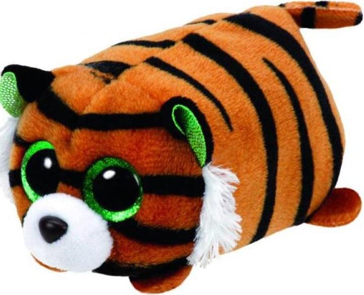 Мягкая игрушка Ty Teeny Tys Тигренок Tiggy, 11 см.Мягкая игрушка Teeny Tys: Тигренок Тигги от американской компании Ty Inc - это замечательное игрушечное животное, которое может стать отличным украшением интерьера детской комнаты. Он выглядит очень округлым и забавным; тигренка даже можно использовать как антистрессовую игрушку, сжимая в руках! Глаза и внутренние части ушек тигренка яркого зеленого цвета. К тому же Тигги окрашен как самый настоящий тигр, в черно-желтые полоски, но нравом отличается куда более милым и приятным.<br>