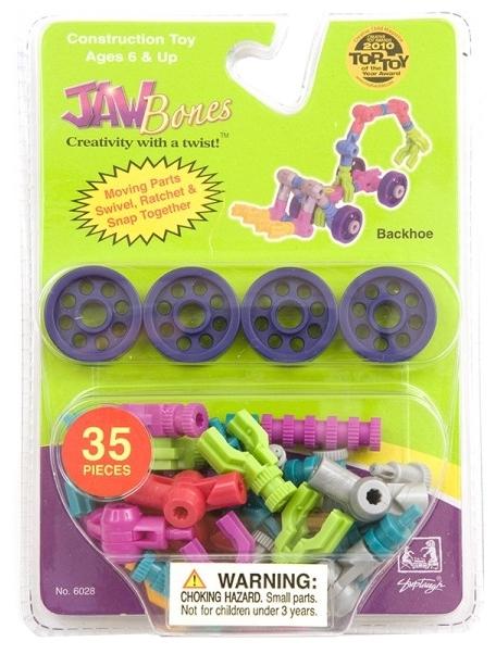 Конструктор Экскаватор Jawbones в блистере (35 деталей) jawbones конструктор аэроплан jawbones в блистере 16 деталей